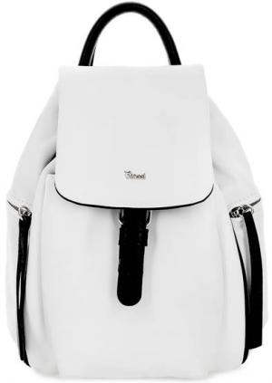 Кожаный рюкзак с откидным клапаном Bruno Rossi. Цвет: белый