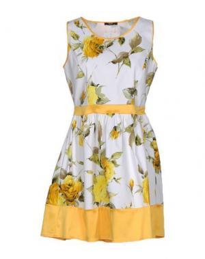 Короткое платье YES ZEE by ESSENZA. Цвет: желтый