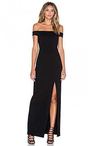 Вечернее платье ponti shoulder band NICHOLAS. Цвет: черный