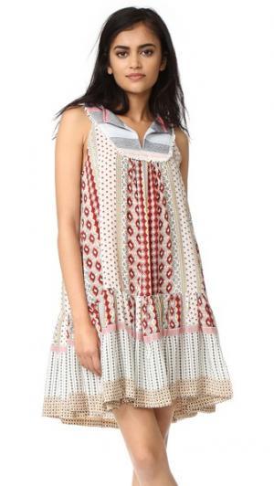 Платье Baja Warm. Цвет: кремовый мульти