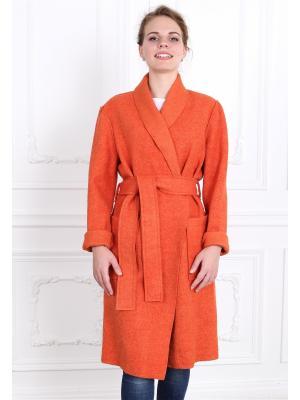 Пальто po Pogode. Цвет: оранжевый