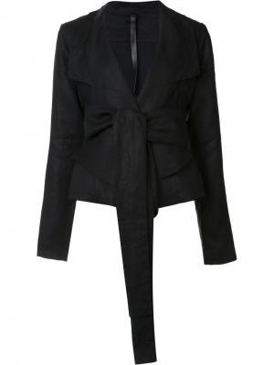 Пиджак с завязками Barbara I Gongini. Цвет: чёрный