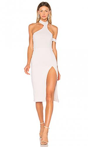 Платье serena Donna Mizani. Цвет: светло-серый
