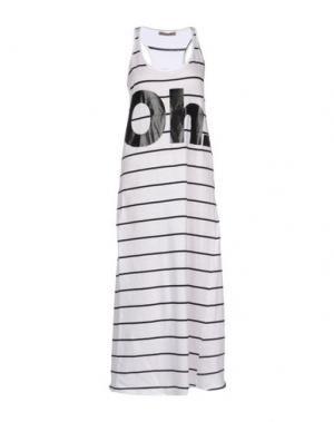 Платье длиной 3/4 DIXIE. Цвет: белый