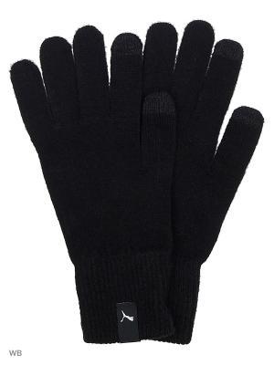 Перчатки PUMA knit gloves. Цвет: черный