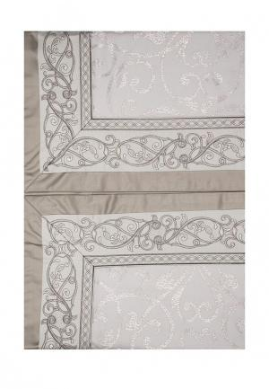 Комплект постельного белья Евро Asabella. Цвет: серый