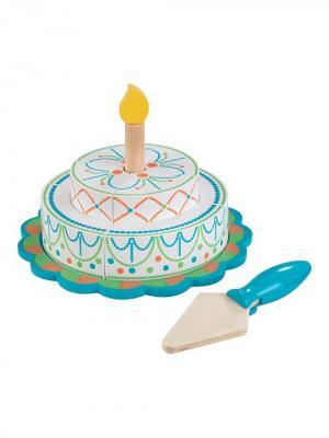 Игровой набор Многоуровневый праздничный торт. Яркий. KIDKRAFT (КИДКРАФТ). Цвет: голубой, белый
