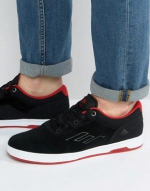 Emerica Черные кроссовки Westgate. Цвет: черный