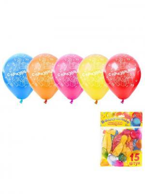 Набор воздушных шаров А М Дизайн. Цвет: красный, желтый, оранжевый
