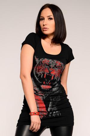Туника PunkQueen. Цвет: черный, красный