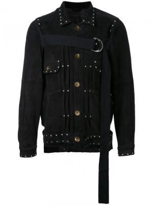 Куртка на пуговицах с завязкой спереди Maison Mihara Yasuhiro. Цвет: чёрный
