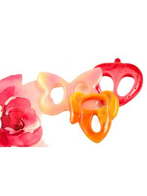 Пряжка Волшебная пуговица для шейного платка madam Пряжкина. Цвет: малиновый, бледно-розовый, светло-оранжевый