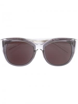 Солнцезащитные очки в круглой оправе Maska. Цвет: чёрный