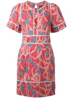 Платье с рисунком Umbria Isabel Marant. Цвет: красный