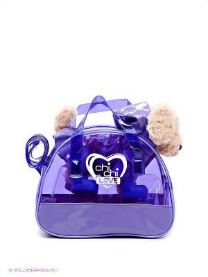 Игрушка Пудель в сумке Chi Love. Цвет: бежевый, фиолетовый