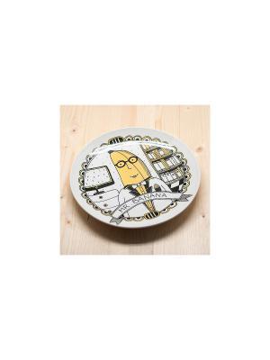 Тарелка Мистер банан Kawaii Factory. Цвет: желтый, белый