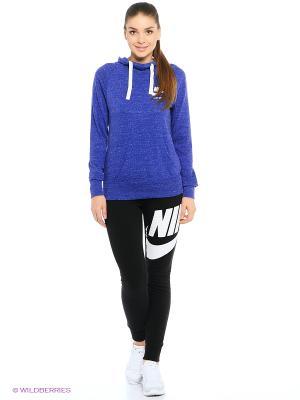 Худи W NSW GYM VNTG HOODIE Nike. Цвет: темно-синий, синий, темно-фиолетовый