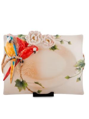 Тарелка декор. Весенние мотивы (Pavone) Pavone. Цвет: кремовый