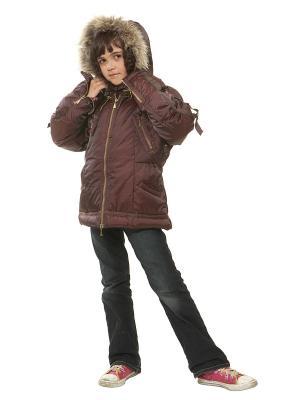 Куртка VELFI. Цвет: темно-коричневый