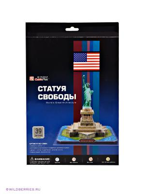 3D пазл Статуя Свободы CubicFun. Цвет: бежевый, зеленый