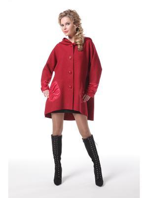 Пальто DizzyWay. Цвет: темно-красный