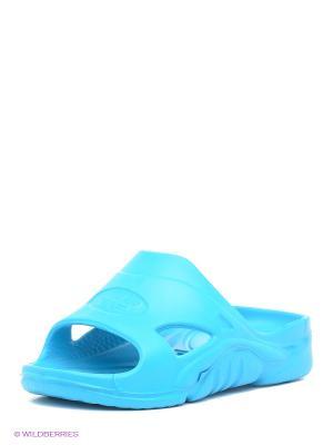 Шлепанцы Дюна. Цвет: бирюзовый, голубой