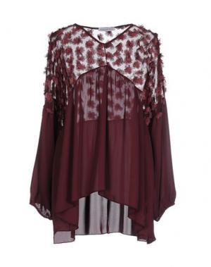 Блузка ANGELA MELE MILANO. Цвет: баклажанный