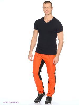 Брюки Micro Loeffler. Цвет: оранжевый, черный