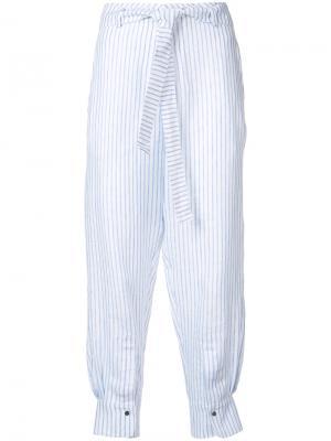 Укороченные брюки в полоску Nehera. Цвет: синий
