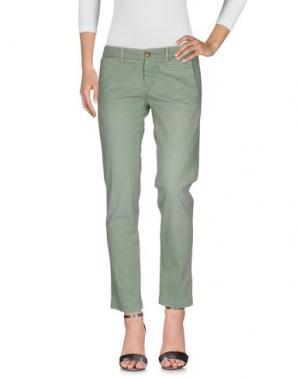 Джинсовые брюки MONOCROM. Цвет: светло-зеленый