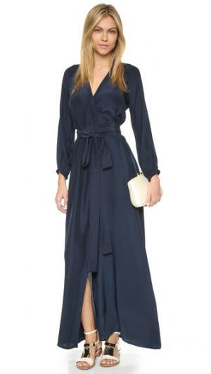 Платье-халат Jagger Rhode Resort. Цвет: темно-синий
