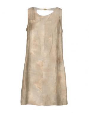 Короткое платье SINÉQUANONE. Цвет: бежевый