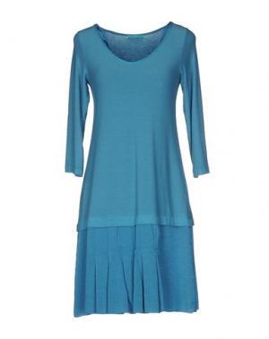 Короткое платье ALMERIA. Цвет: лазурный
