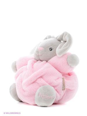Заяц маленький розовый музыкальный, коллекция Плюм Kaloo. Цвет: розовый