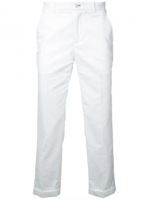 Классические брюки-чинос Loveless. Цвет: белый