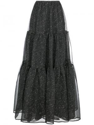 Длинная юбка из органзы Rejina Pyo. Цвет: чёрный