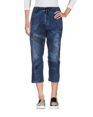 Джинсовые брюки-капри HYDROGEN. Цвет: синий