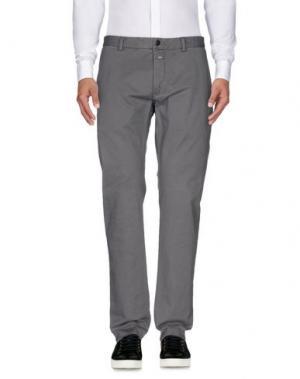 Повседневные брюки CLOSED. Цвет: серый