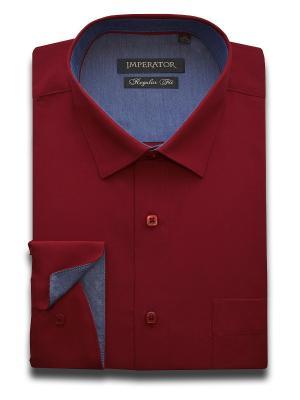 Рубашка Imperator. Цвет: темно-красный