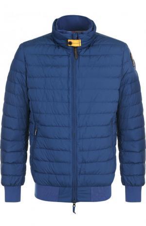 Стеганая куртка с воротником-стойкой Parajumpers. Цвет: синий