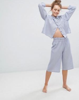 Lazy Days Пижамные шорты. Цвет: синий