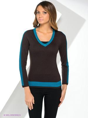 Пуловер Yuka. Цвет: темно-коричневый