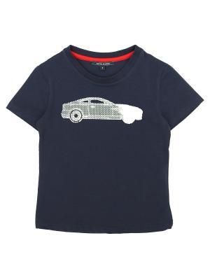 Футболка Aston Martin. Цвет: синий