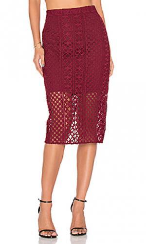 Кружевная юбка calista Bardot. Цвет: красное вино