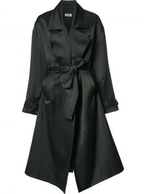 Пальто свободного кроя со шнуровкой Nomia. Цвет: чёрный