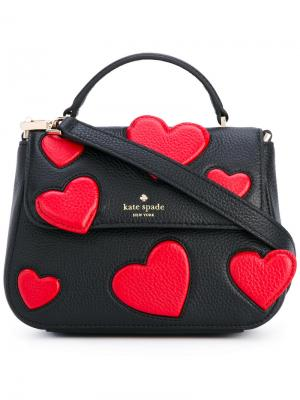 Hearts shoulder bag Kate Spade. Цвет: чёрный