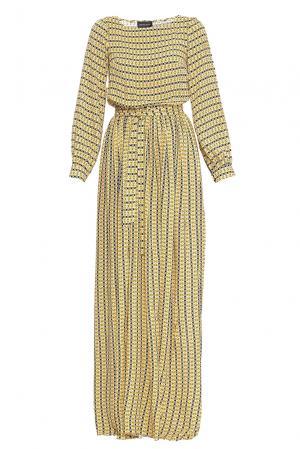 Платье с поясом 169802 Demurya Collection. Цвет: разноцветный