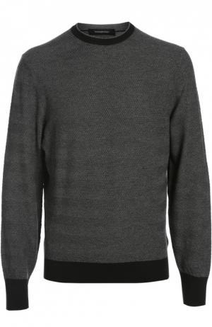 Вязаный пуловер Ermenegildo Zegna. Цвет: темно-серый