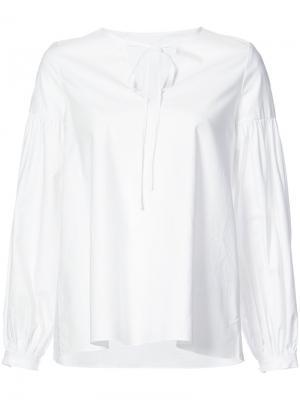 Блузка на завязках Co. Цвет: белый