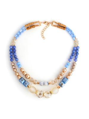 Леди Джейн Роман с камнем. Цвет: голубой, золотистый, синий
